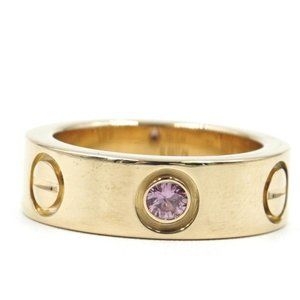 Cartier 18k Sapphire 1p 5.5mm Wide Size 44 Ring